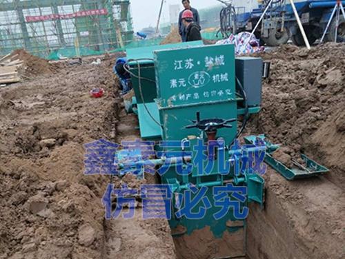 中铁四局矩形渠带盖板施工现场